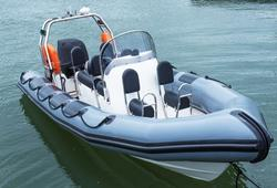 bareboat rib charter - small image of grey rib in the water