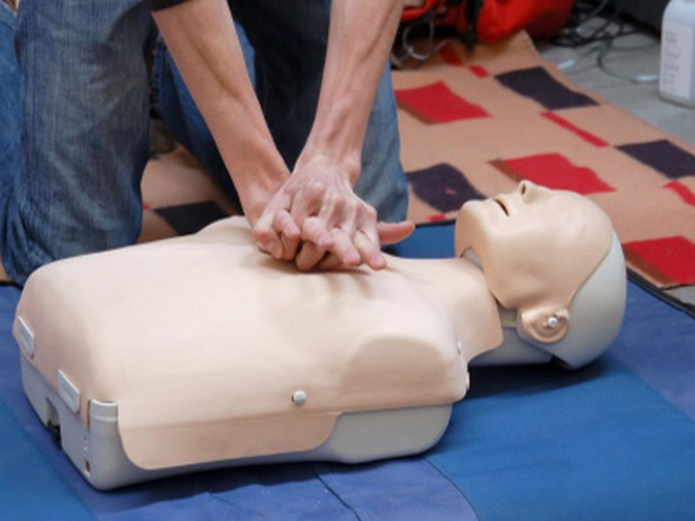 resuscitation mannequin for a RYA first aid course